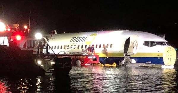 Un avión procedente de Guantánamo aterriza de emergencia en un río en Florida