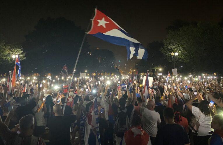 Masiva demostración de Cubanos Americanos en Washington DC, Kentucky presente