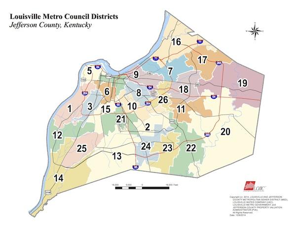 El Comité del Consejo Metropolitano propone rediseñar los mapas del distrito